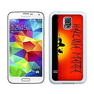 Awesome Hakuna Matata TPU Phone Case for Samsung Galaxy S5 Durable Soft Rubber Silicone S5 White Cover for Girls Boys