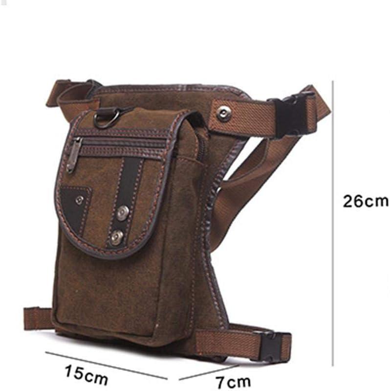 Bolso De Pierna Bolsas De Asiento De Moto Ri/ñonera para Hombre Paquete De Cintura Multibolsillos Vintage para Viaje//Excursionismo//Alpinismo//Montando//Ciclismo