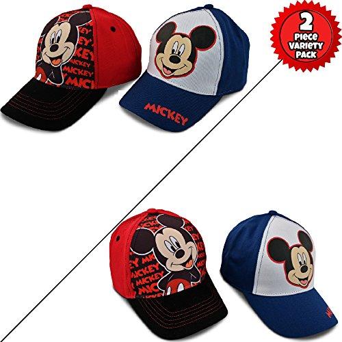 Disney Little Boys Assorted Character Cotton Baseball Cap, 2 Piece Design Set, Age 2-7 (Toddler Boys – Age 2-4 – 51 cm, Mickey Mouse Design – 2 Piece Set) by Disney (Image #5)