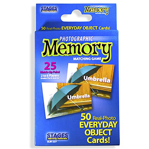 - Stages Learning Materials Picture Memory Everyday Objects Card Game, Blue, Size 5 x 3