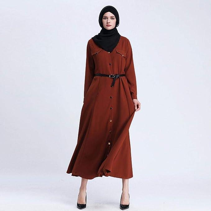 VJGOAL Mujeres Verano Moda Casual Retro Color sólido Hebilla ...