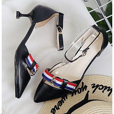 Heel 5 Boucle Marche à Basique Kitten Chaussures Eté Polyuréthane Escarpin Talons Escarpin Noir7 ggx LvYuan Décontracté Basique black Femme Habillé Blanc wpHqBaa