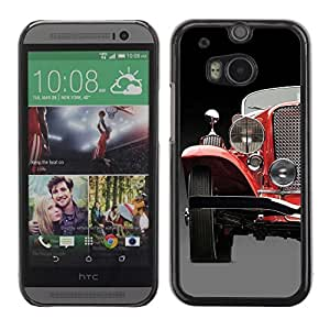 Colorful Printed Hard Protective Back Case Cover Shell Skin for All New HTC One (M8) ( Classical Car Photo )
