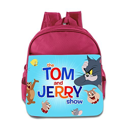 Toddler Kids Tom And Jerry School Backpack Cute Baby Boys Girls School Bag Pink