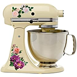 Beautiful Garden Rose Full Color Kit Mixer Machine Art Wrap