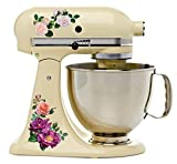 kitchenaid mixer flower - Beautiful Garden Rose Full Color Kit Mixer Machine Art Wrap