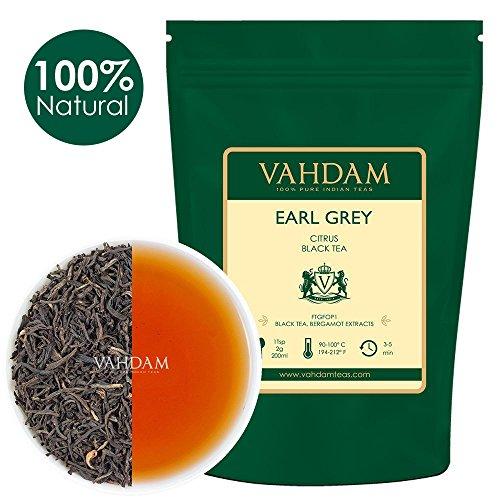 VAHDAM, Imperial Earl Grey Tea Leaves (200+ Cups) - 100% Natural Bergamot Oil blended with Garden Fresh Black Tea, Floral & Citrusy, 16-ounce Bag, Garden Fresh Earl Grey Tea Loose (Imperial Garden State Garden)