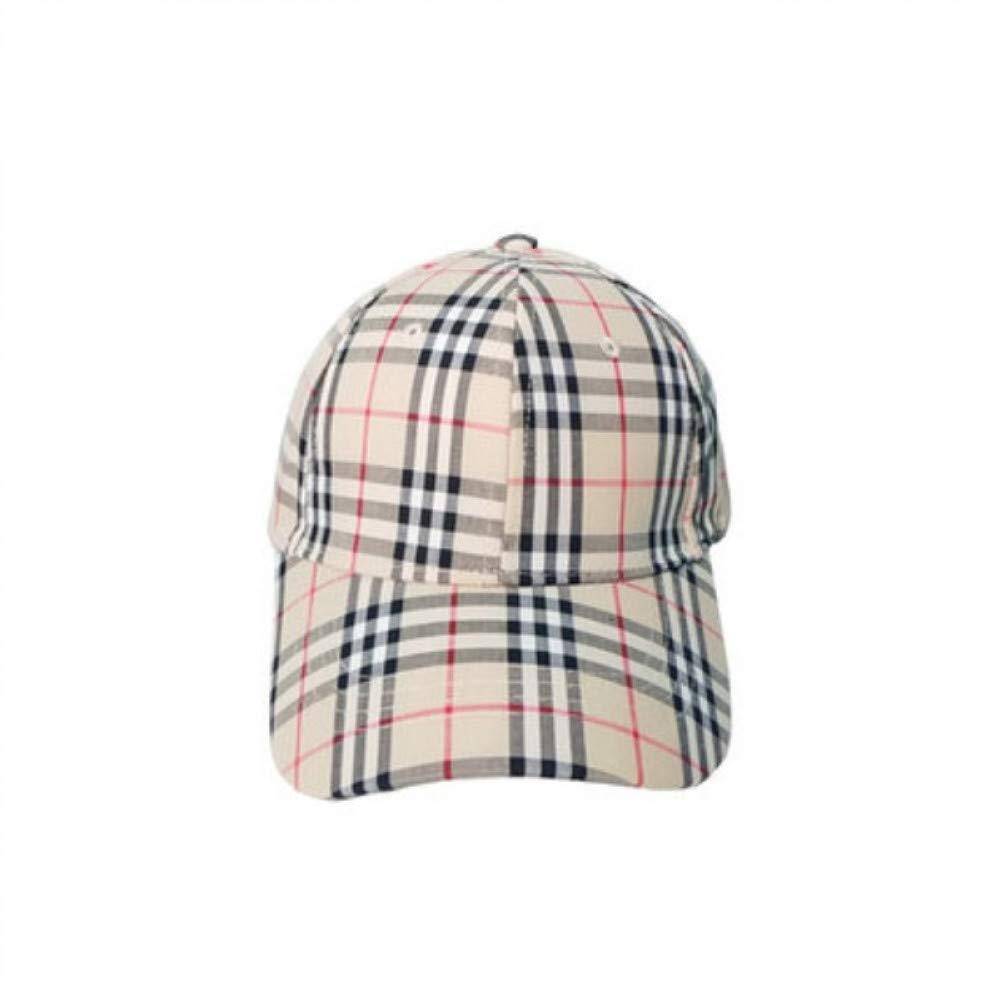 YPORE Sombrero De Algod/ón S/ólido A Cuadros Gorra De B/éisbol Ajustable para Hombres Y Mujeres