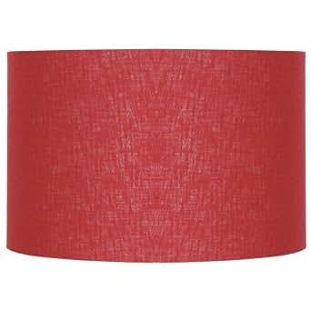 Aimbry - Pantalla cilíndrica para lámpara (lino, 30,4cm), color rojo