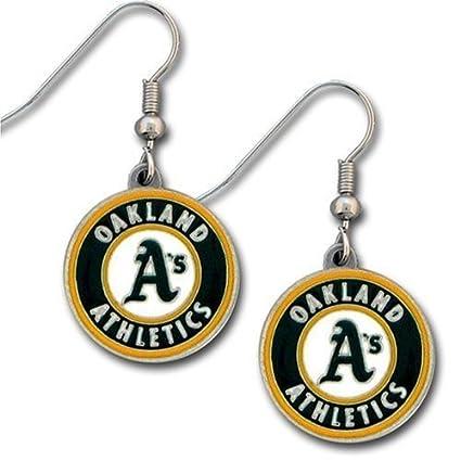 new product 768f5 daa78 Oakland Athletics Dangle Earrings - MLB Baseball Fan Shop Sports Team  Merchandise