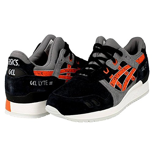 ASICS GEL Lyte III Retro Running Shoe, Black/Chili, 9 M US