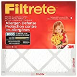 Filtrete MPR 1000 20 x 20 x 1 Micro Allergen Defense HVAC Air Filter, 2-Pack