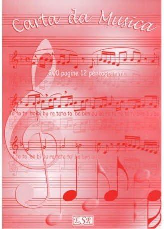 Quadernone Pentagrammato. 200 Pagine, 12 Pentagrammi. Tipo Block Notes In A4. Esr Edizioni Sedam Music Workbook Es014