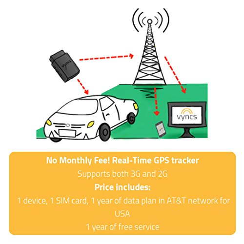 GPS Tracker Vyncs Pro No Monthly Fee OBD 3G Car Tracker Real Time GPS, Teen Coaching, Car Health, Fuel Economy, Emission, One year Roadside Assistance Included VPOBDGPS3 by Vyncs (Image #5)