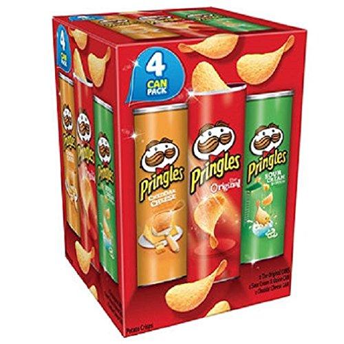 Pringles Potato Crisp Super Stack Variety Pack (4 ct.)