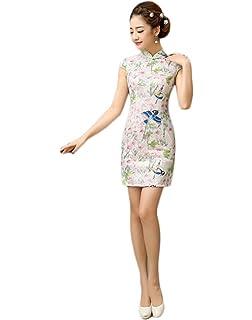 9a27e98f9 Amazon.com: YueLian Women's Chinese Evening Cheongsam Short Qipao ...
