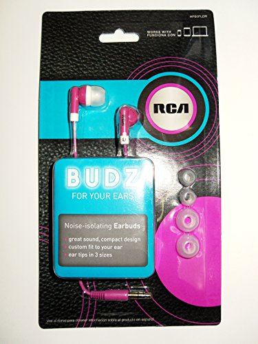 RCA BUDZ HP60PLDR Noise-isolating Earbuds, ()