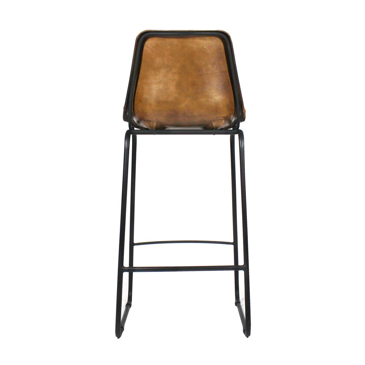 Chaise De Bar Industrielle Cuir Et Metal Dublin S16bar Marron