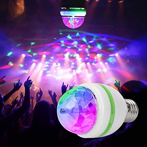 ALOKRUPSWAM LED decorative Disco lamp 360 Degree LED Crystal Rotating Bulb Magic Disco LED Light,LED Rotating Bulb Light…