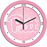 SunTime NCAA Pittsburgh Panthers Wall Clock - Pink