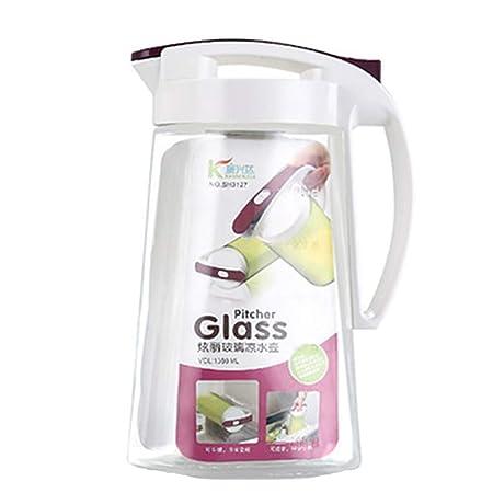YYFZ Jarra – Doble botella de té de vidrio de borosilicato con ...