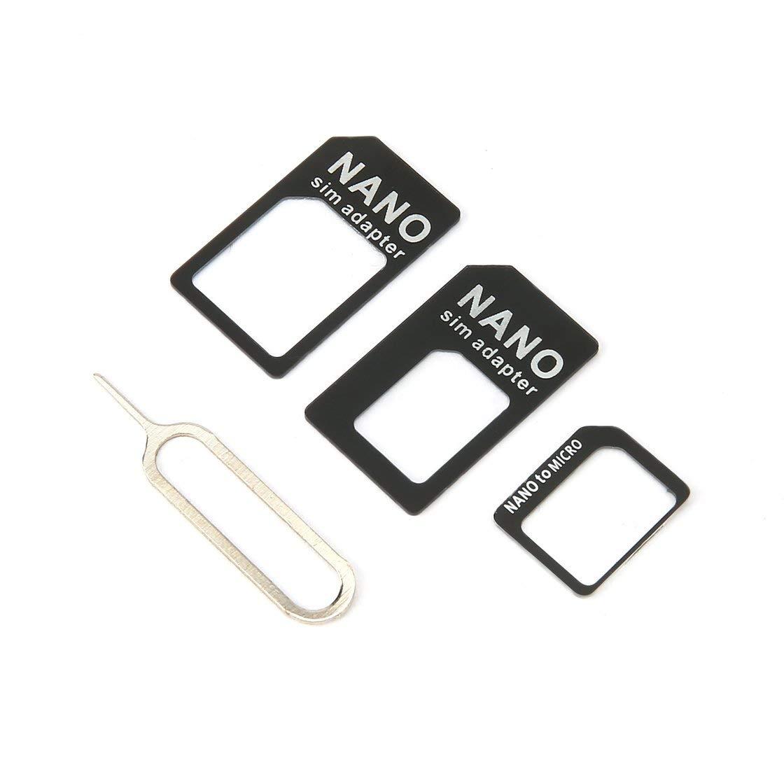 Gwendoll 3 en 1 pour Adaptateur Nano Sim et pour Adaptateur Micro Sim et Nano pour Micro Adaptateur avec Aiguille pour appareils Mobiles Taille compacte