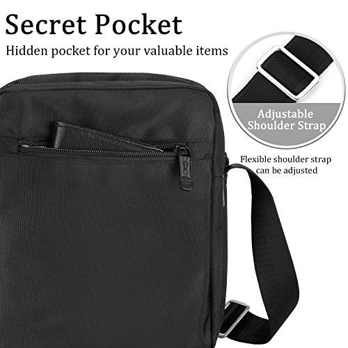 victoriatourist V3002Vertical Messenger bolsa para ipad-mini y tablets de hasta 8.1-inch negro