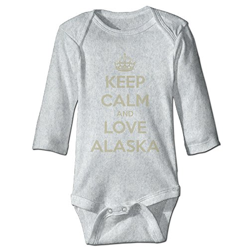 Keep Calm And Love Alaska Infant Long Sleeve Bodysuits Newborn Clothes