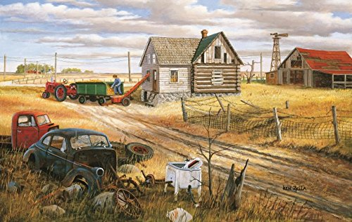 Homestead and Corn Crib 550 Piece Jigsaw Puzzle by SunsOut