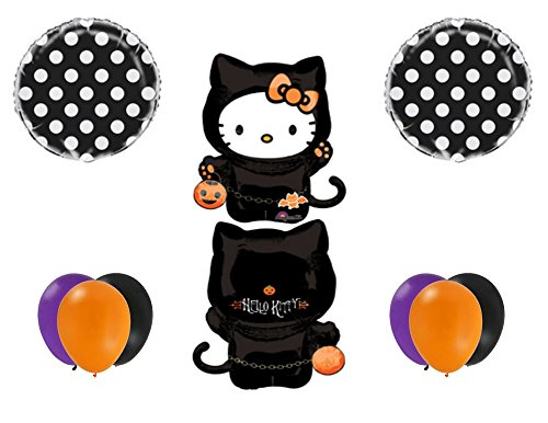 HALLOWEEN HELLO KITTY Party Balloons Decoration Supplies Trick Or Treat Birthday -