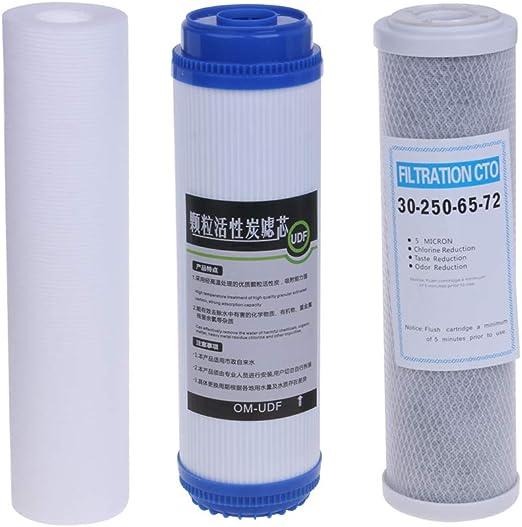 congchuaty Conjunto de Cartucho de Filtro de purificador de Agua de 10 Pulgadas con Filtro Elementos de prefiltro de Filtro: Amazon.es: Hogar