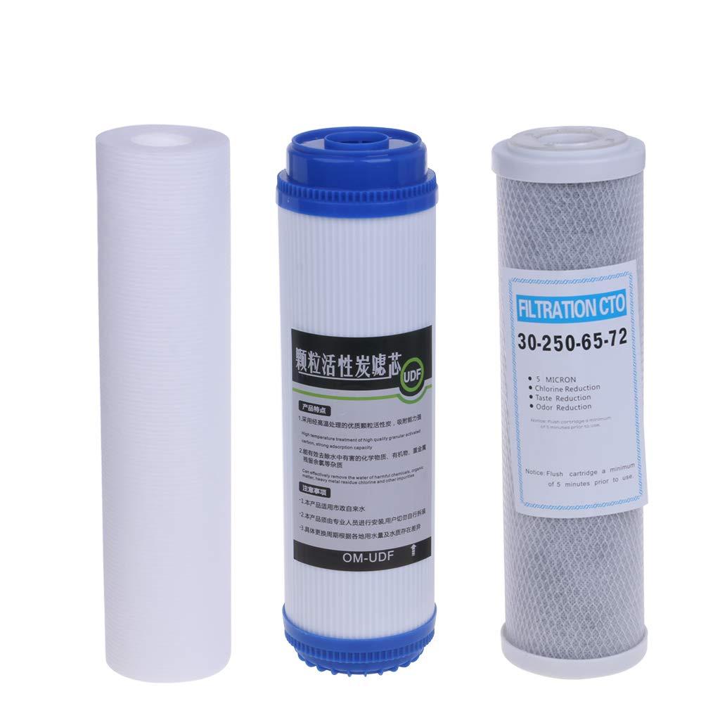 congchuaty Conjunto de Cartucho de Filtro de purificador de Agua de 10 Pulgadas con Filtro Elementos de prefiltro de Filtro