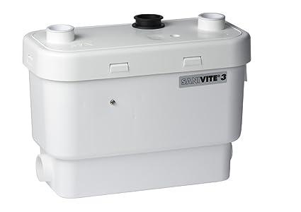 Saniflo 008 SANIVITE Gray Heavy Duty Water Pump White