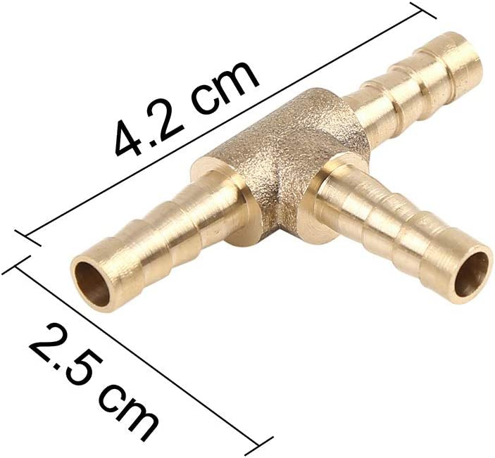 Raccordo a T in Ottone da 5 mm Olio Acqua Adattatore a 3 Vie per Aria X AUTOHAUX