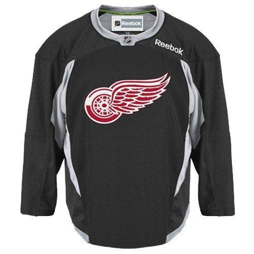 Reebok Detroit Red Wings Blank - NHL Detroit Red Wings Practice Jersey, Black, Medium