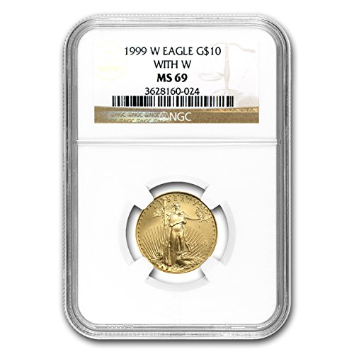 1999 W 1/4 oz Gold American Eagle MS-69 NGC (W Variety) Gold MS-69 NGC