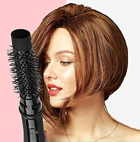 Hot Air Brush, 3-in-1 One-Step Hair Dryer and Volumizer, Negative Ion Hair Dryer Brush Styler, Ceramic Lightweight Styling Brush for Hair Drying, Styling, Curling, Straightening, Shine and Hair Volume