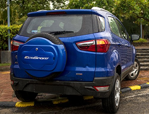 f22 Half Spare ABS Plastic, Du Pont Paint, Pu Dome Sticker, Chrome Lock  Wheel cover for Ford Ecosport (Chill Metallic)