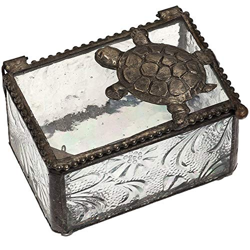 J Devlin Box 331 Turtle Trinket Box Stained Glass Jewelry Keepsake Box Home -