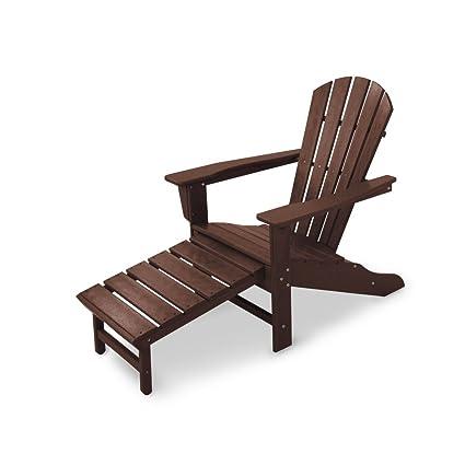 POLYWOOD HNA15MA Palm Coast Adirondack Chair, Mahogany - POLYWOOD HNA15MA Palm Coast Adirondack Chair, Mahogany