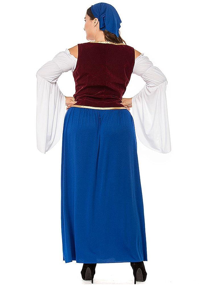 XFentech Vestido de Dirndl para Mujeres gordas, Traje de Oktoberfest, Vestidos de Lujo Bávaros, Ropa de la Cerveza de la Camarera, Falda de Dirndl: ...