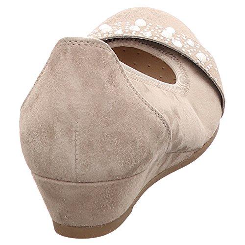 marrón Beige Piel Zapatos vestir de beige Gabor para de mujer zw0nq