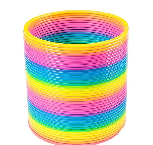 6.9'' JUMBO RAINBOW COIL SPRING, Case of 12 by DollarItemDirect (Image #1)