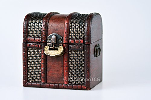 The Elven Chest (Chainmail): a Lockable Wooden Deck & Counter Box for Deck Protector storage Trading Cards TCG MTG Magic the Gathering Pokemon YGO Yugioh TCG Force of Will Arkham Horror LCG