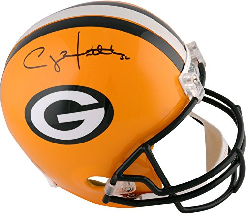 (Signed Clay Matthews Helmet - Riddell Replica Memories - Fanatics Authentic Certified - Autographed NFL Helmets)