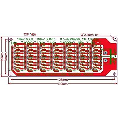 Electronics-Salon 1R - 9999999R Seven Decade Programmable Resistor Board, Step 1R, 1%, 1/2 Watt.: Industrial & Scientific