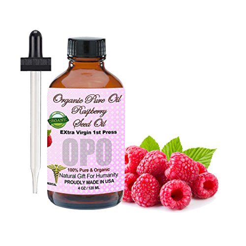 Raspberry Seed Oil Organic Cold Pressed 100% Pure Natural 4 oz Face Hair Skin Body Lips Extra Virgin Unrefined Premium Pharmaceutical Grade