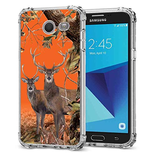 Galaxy J3 Emerge Camo Case, BAYKE TPU Bumper Protective Cover with Reinforced Corners for Samsung Galaxy J3 Prime/J3 Emerge/Express Prime 2/Amp Prime 2/J3 Mission/J3 Eclipse/J3 Luna Pro/Sol 2/J3 2017