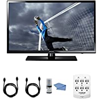Samsung UN40H5003 - 40-Inch Full 1080p HD 60Hz LED TV + Hookup Kit - Includes TV, HDMI to HDMI Cable 6, 6 Outlet Wall Tap Surge Protector with Dual 2.1A USB Ports and Cleaning Kit