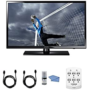 Samsung UN40H5003 - 40-Inch Full 1080p HD 60Hz LED TV + Hookup Kit - Includes TV, HDMI to HDMI Cable 6', 6 Outlet Wall Tap Surge Protector with Dual 2.1A USB Ports and Cleaning Kit
